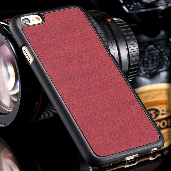 Fashion Wood Pattern Ultra Slim Cover For Iphone 6 Plus 5.5Inch Ba 32254013883-5-red