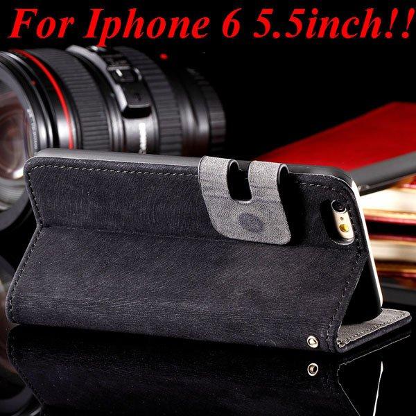 I6 Plus Flip Case Top Quality Full Cover For Iphone 6 Plus 5.5Inch 32235685915-1-black