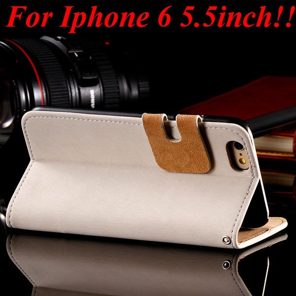 I6 Plus Flip Case Top Quality Full Cover For Iphone 6 Plus 5.5Inch 32235685915-2-white