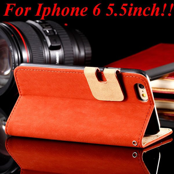 I6 Plus Flip Case Top Quality Full Cover For Iphone 6 Plus 5.5Inch 32235685915-3-red