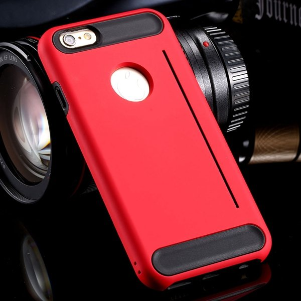 Newest Back Phone Cover For Iphone 6 4.7Inch Slim Case Hard Pc + S 32249635151-3-red