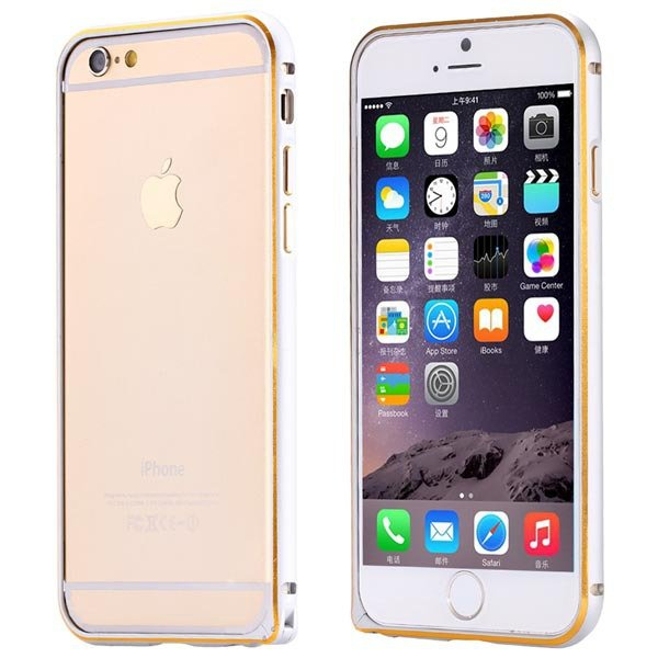 Luxury Ultra Thin Metal Frame Cell Phone Case For Iphone 6 4.7Inch 32247645075-1-silver