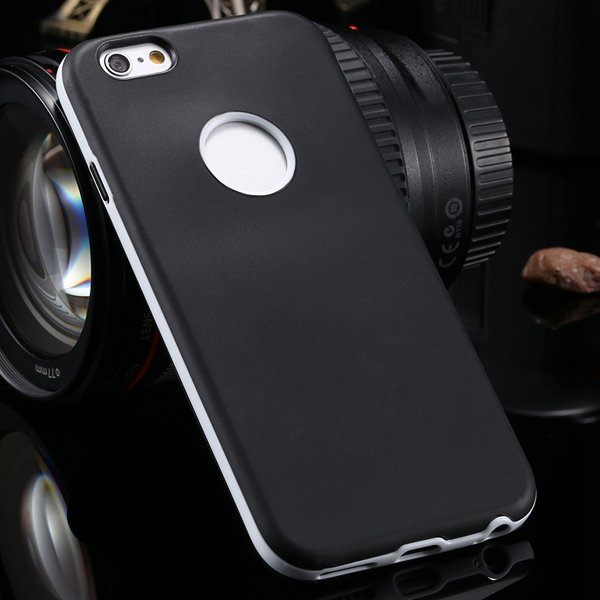 2014 Newest Clear Back Case For Iphone 6 4.7'' Cover Soft Transpar 2041294218-3-black