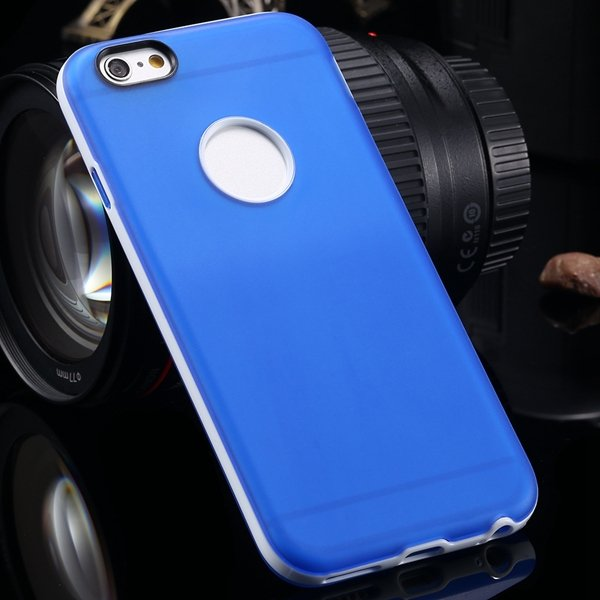 2014 Newest Clear Back Case For Iphone 6 4.7'' Cover Soft Transpar 2041294218-5-blue