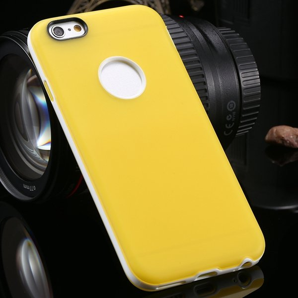 2014 Newest Clear Back Case For Iphone 6 4.7'' Cover Soft Transpar 2041294218-6-yellow