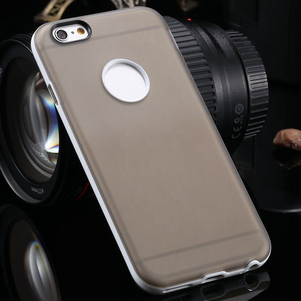 2014 Newest Clear Back Case For Iphone 6 4.7'' Cover Soft Transpar 2041294218-8-gray