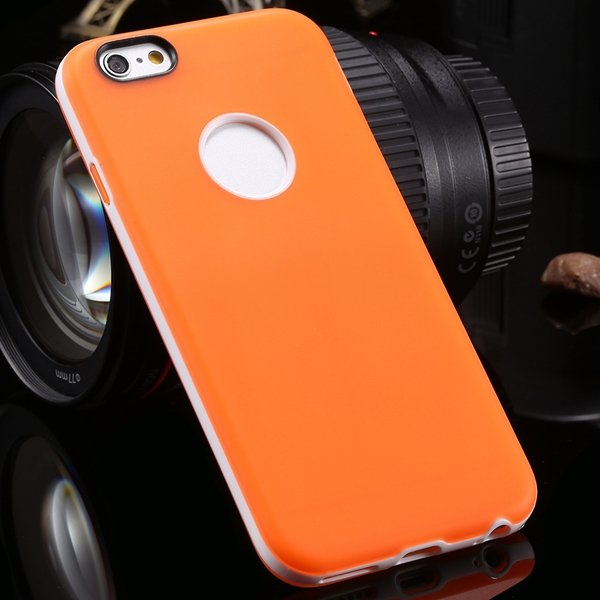 2014 Newest Clear Back Case For Iphone 6 4.7'' Cover Soft Transpar 2041294218-10-orange
