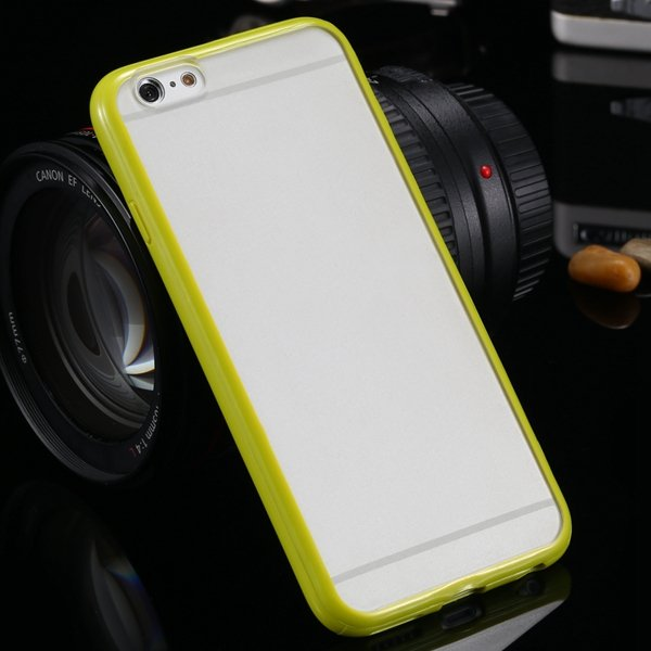I6 Plus Clear Case Mat Pc + Candy Color Tpu Frame Cover For Iphone 32301763530-9-grass green