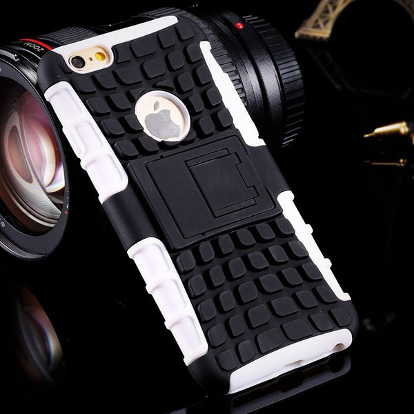 I6 Plus Heavy Duty Armor Cover Kickstand Display Case For Iphone 6 32294378230-2-white