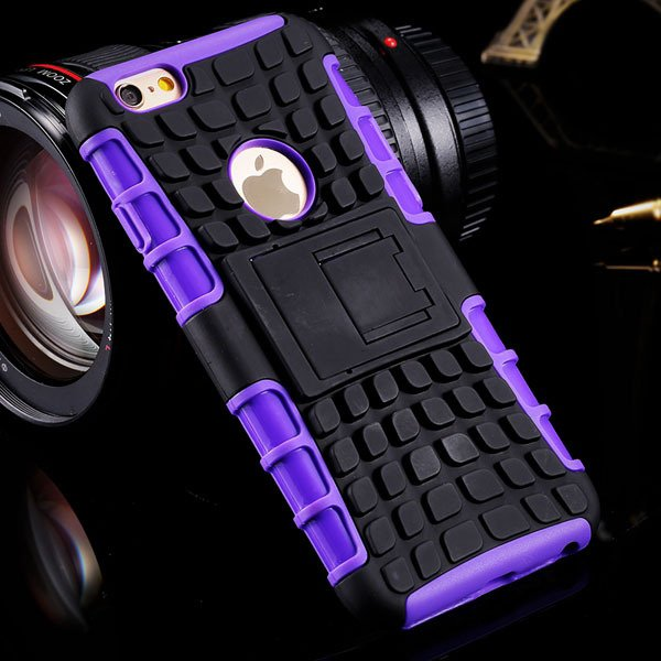 I6 Plus Heavy Duty Armor Cover Kickstand Display Case For Iphone 6 32294378230-7-purple