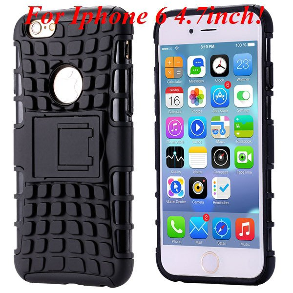 I6/6 Plus Heavy Duty Armor Case For Iphone 6 4.7Inch/5.5Inch Plus  32295600799-1-I6 black