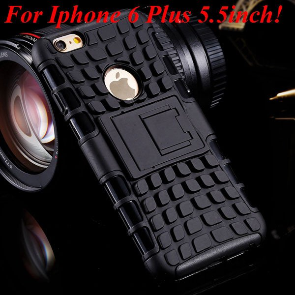 I6/6 Plus Heavy Duty Armor Case For Iphone 6 4.7Inch/5.5Inch Plus  32295600799-9-i6 Plus black