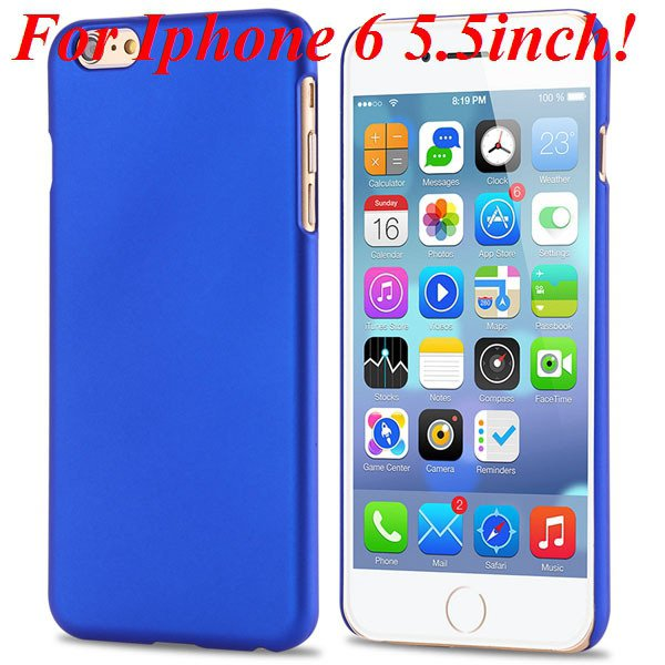 I6/6 Plus Slim Case Mat Lubricating Smooth Back Cover For Iphone 6 32281037773-3-blue for 6 Plus