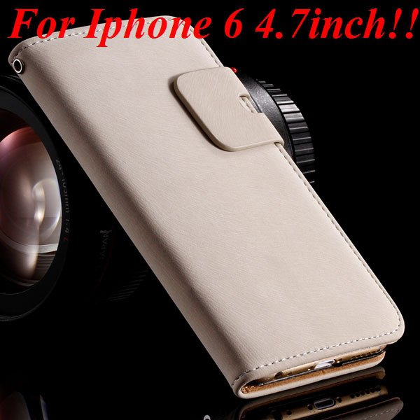 I6 Flip Case Luxury Smooth Pu Leather Cover For Iphone 6 4.7Inch F 32235574059-2-white