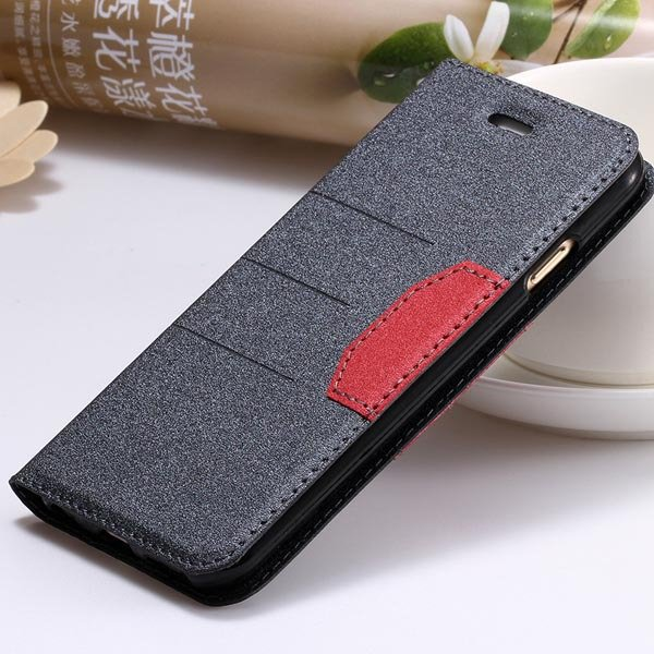 Cool Fashion Full Leather Cover For Iphone 6 Plus 5.5Inch Wallet C 32247207800-3-black