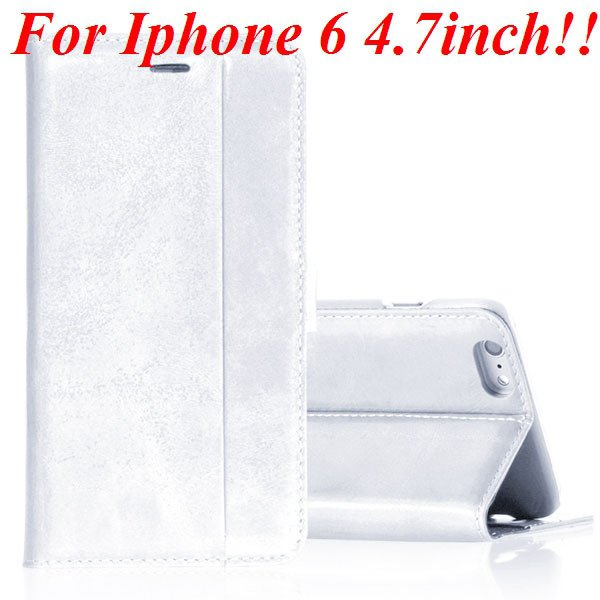 I6 Genuine Leather Case Flip Cover For Iphone 6 4.7Inch Full Pouch 32236273852-4-white