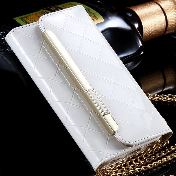 Paris Fashion Grid Pattern Pouch Bag Cover For Iphone 6 4.7Inch Le 32254271349-2-white
