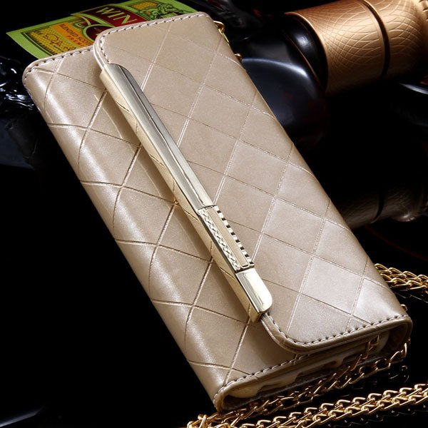 Paris Fashion Grid Pattern Pouch Bag Cover For Iphone 6 4.7Inch Le 32254271349-6-gold