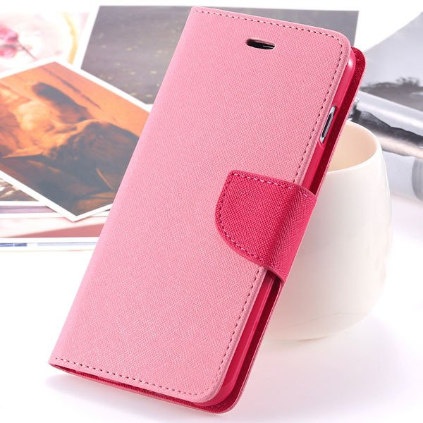 Fashion Wallet Pu Leather Case For Iphone 6 Plus 5.5Inch Full Phon 32250764196-2-pink