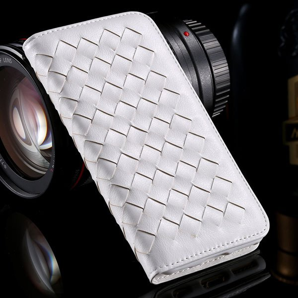 I6 Plus Weaving Case Flip Magnetic Wallet Cover For Iphone 6 Plus  32270054437-2-white