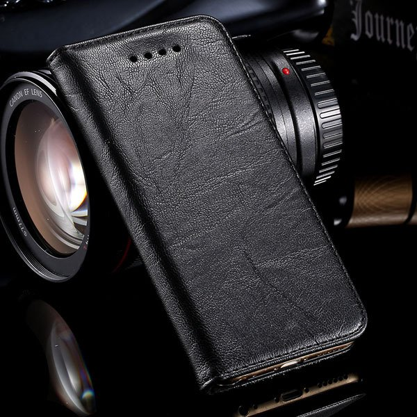 Genuine Leather Magnetic Flip Case For Iphone 6 4.7Inch Full Phone 32250358673-4-black