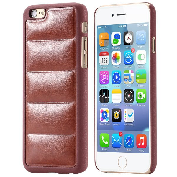 Ultra Slim Sofa Grain Soft Case For Iphone 6 4.7Inch Pu Leather Ph 32242323360-5-brown