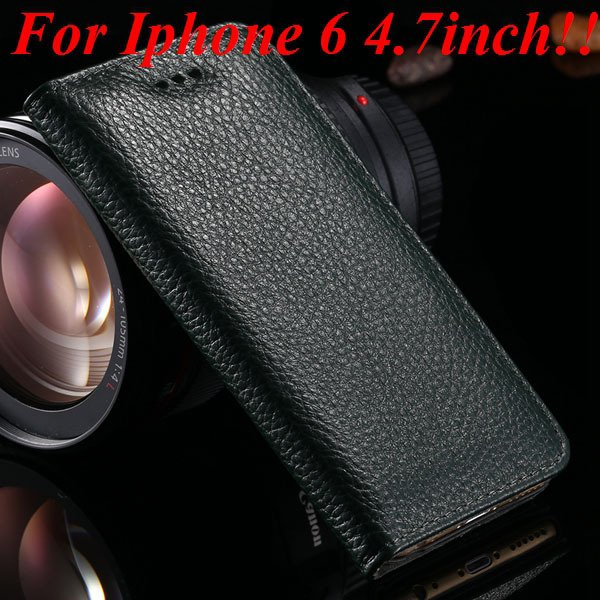 I6 Genuine Leather Cover Full Protect Case For Iphone 6 4.7Inch Ce 32236840462-1-black