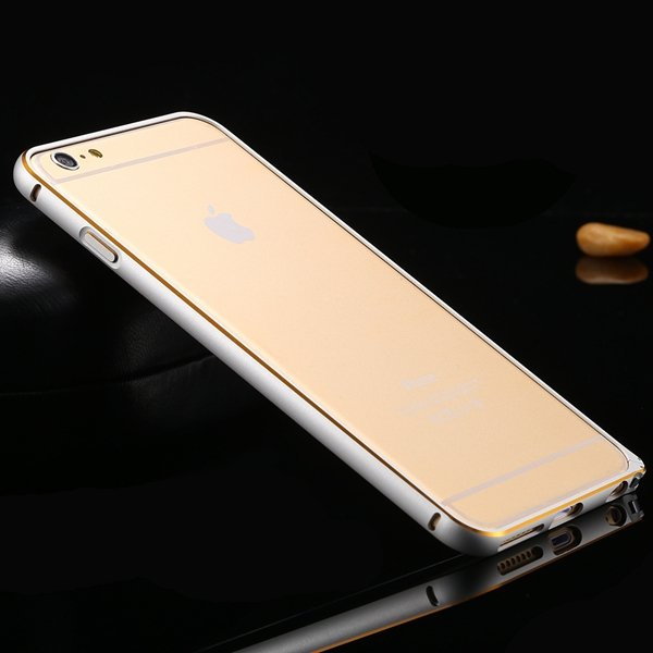 Shiny Gold Metal Frame Cell Phone Cover For Iphone 6 Plus 5.5Inch  32214039005-1-silver