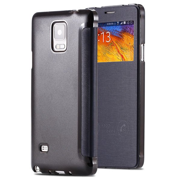For Note 4 Smart Window Display View Case For Samsung Galaxy Note  32236551279-4-deep blue