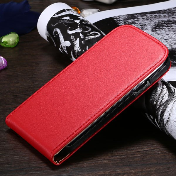 S3 Flip Case Genuine Leather Cover For Samsung Galaxy Siii S3 I930 1790508021-4-red