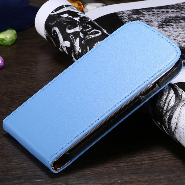 S3 Flip Case Genuine Leather Cover For Samsung Galaxy Siii S3 I930 1790508021-5-light blue