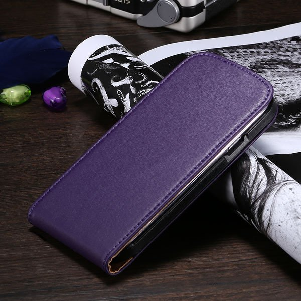 S3 Flip Case Genuine Leather Cover For Samsung Galaxy Siii S3 I930 1790508021-6-purple