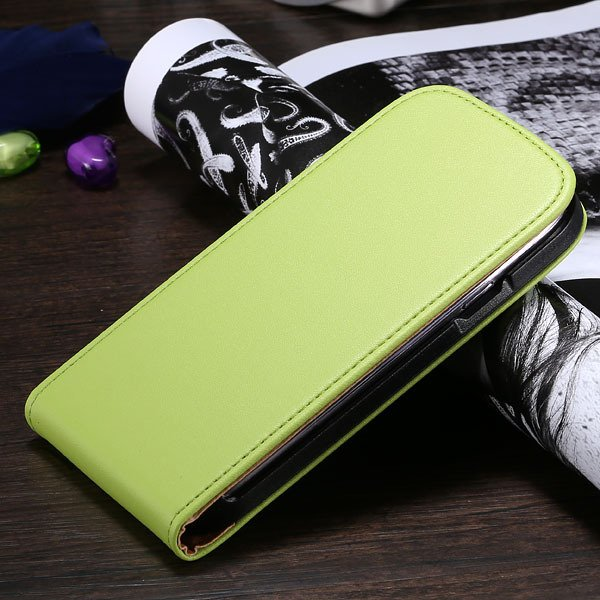 S3 Flip Case Genuine Leather Cover For Samsung Galaxy Siii S3 I930 1790508021-8-green