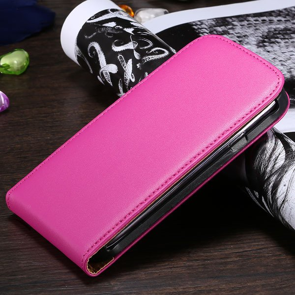 S3 Flip Case Genuine Leather Cover For Samsung Galaxy Siii S3 I930 1790508021-9-hot pink