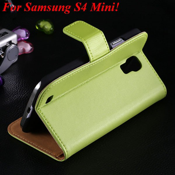 Genuine Korea Style Ultra Thin Leather Case For Samsung Galaxy S4  1850888618-4-green for S4 Mini