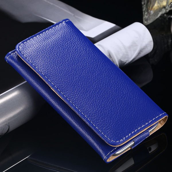 Multifunction Litchi Grain Case For Samsung Galaxy S5 S4 S3 For Ip 1869037687-3-blue