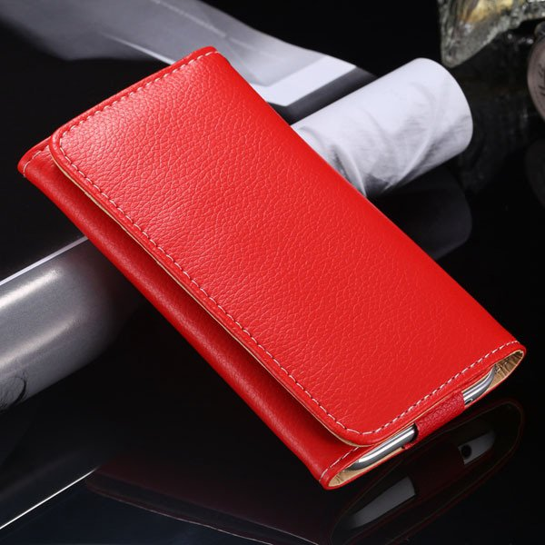 Multifunction Litchi Grain Case For Samsung Galaxy S5 S4 S3 For Ip 1869037687-5-red