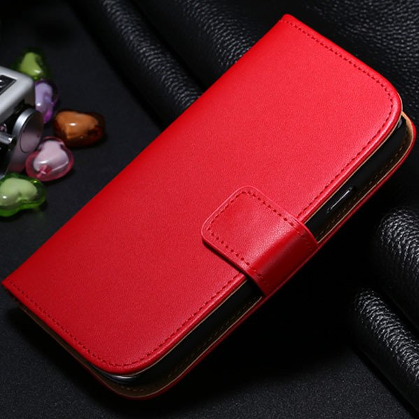 S3 Genuine Leather Case Flip Wallet Cover For Samsung Galaxy S3 Si 1772136100-3-red