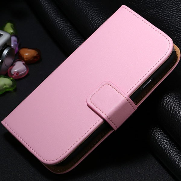 S3 Genuine Leather Case Flip Wallet Cover For Samsung Galaxy S3 Si 1772136100-6-pink
