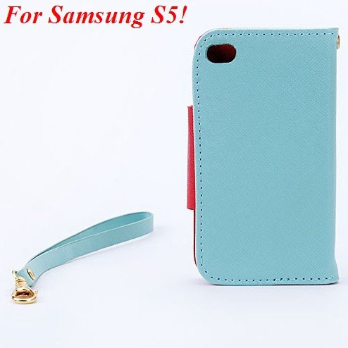 S3 S5 Wallet Case For Samsung Galaxy S3 Siii I9300 Pu Leather Cove 1848926226-9-sky blue  for S5