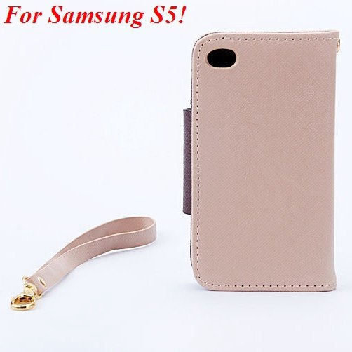 S3 S5 Wallet Case For Samsung Galaxy S3 Siii I9300 Pu Leather Cove 1848926226-11-khaki  for S5