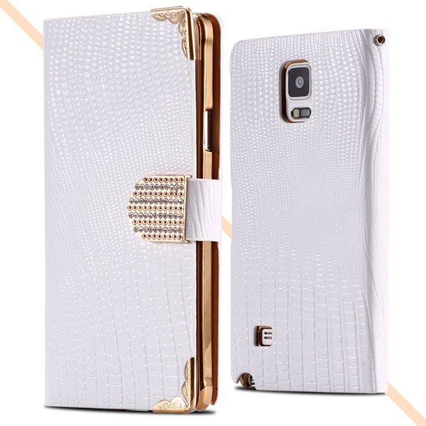 Luxury Bling Wallet Pu Leather Case For Samsung Galaxy Note 4 N910 32245985795-3-white