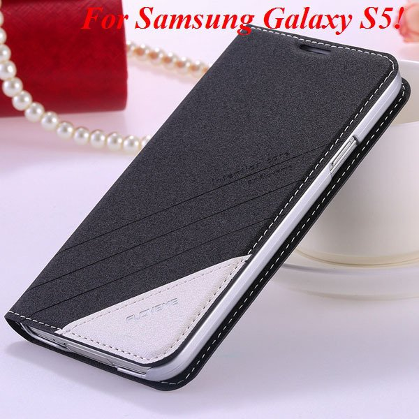 S5 S6 Original Brand Case Luxury Pu Leather Cover For Samsung Gala 32266601588-1-S5 black