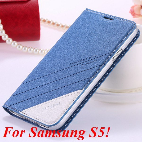 S5 S6 Original Brand Case Luxury Pu Leather Cover For Samsung Gala 32266601588-2-S5 blue