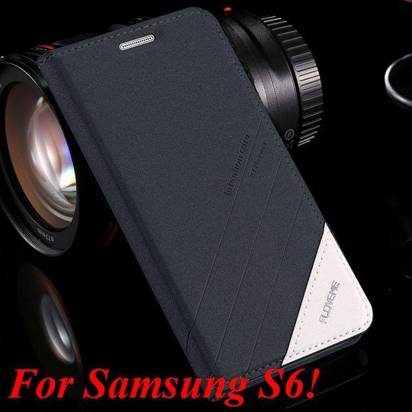 S5 S6 Original Brand Case Luxury Pu Leather Cover For Samsung Gala 32266601588-7-S6 black