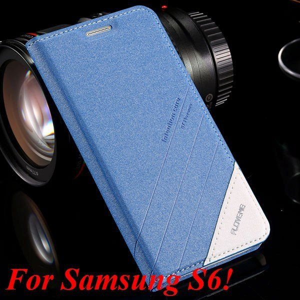 S5 S6 Original Brand Case Luxury Pu Leather Cover For Samsung Gala 32266601588-8-S6 blue