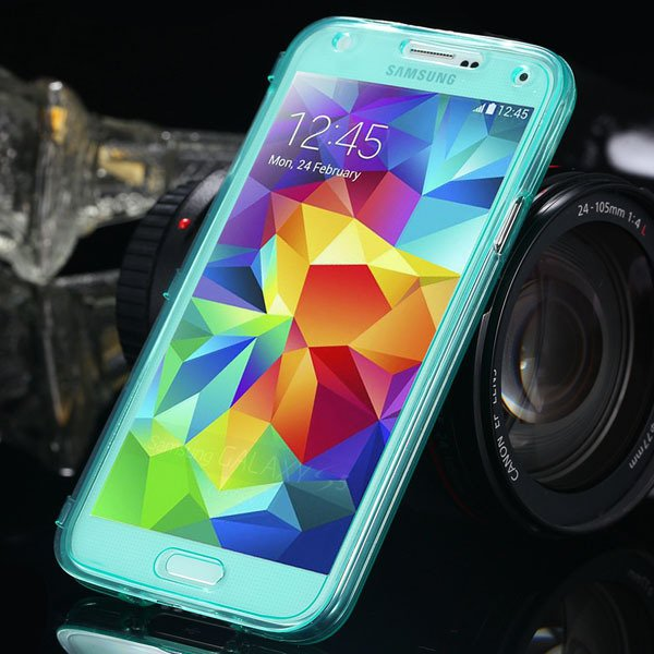 S5 Clear Case Flip Tpu Cover For Samsung Galaxy S5 Sv I9600 Deluxe 1869499191-2-green