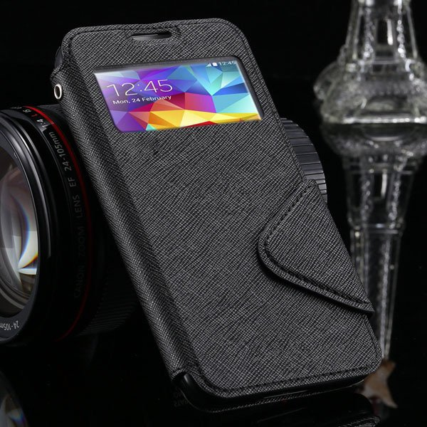 S4 Display Full Close Case For Samsung Galaxy S4 Siv I9500 Pu Leat 1960956145-1-black