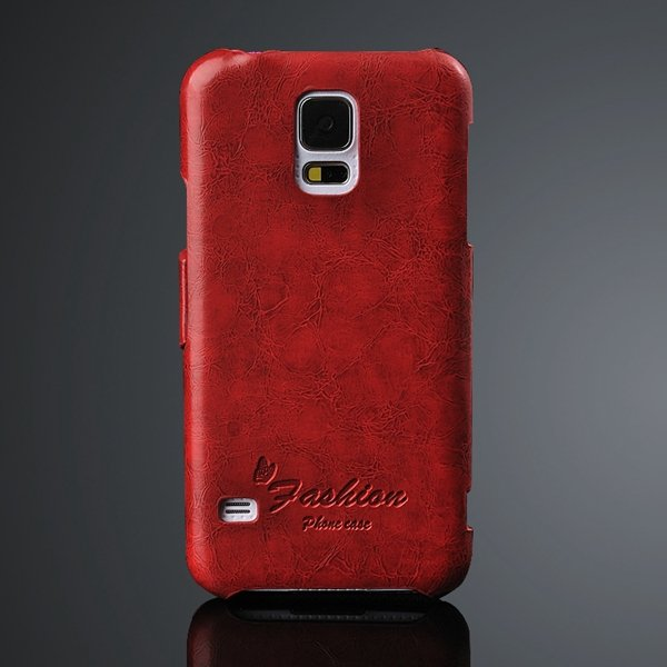 Newest Grease Glazed Pu Leather Wallet Cover For Samsung Galaxy S5 2046059776-1-red