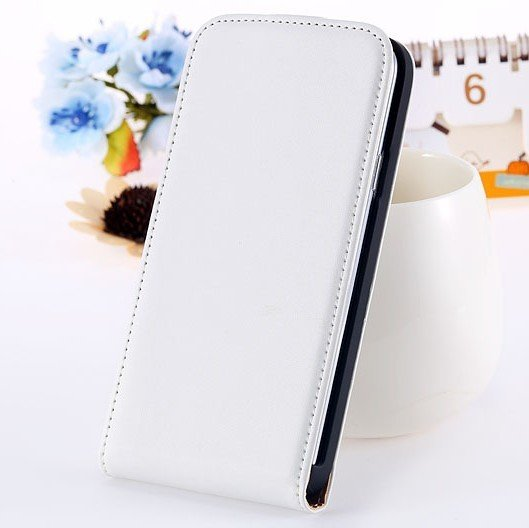 S5 Genuine Leather Case Flip Cover For Samsung Galaxy S5 Sv I9600  1738506719-2-white